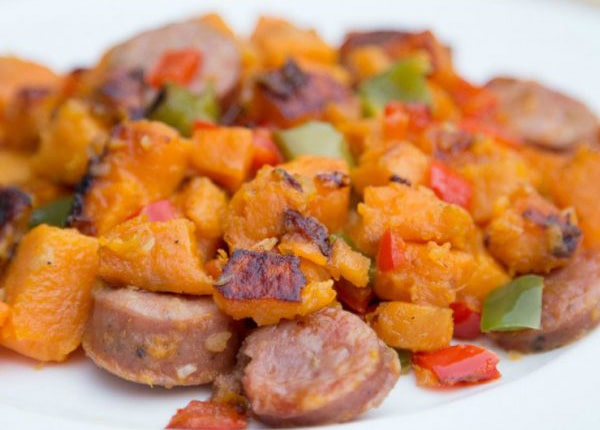 Paleo Sweet Potato and Sausage Stuffing