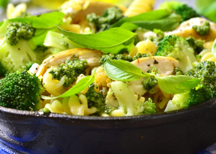 Pesto Chicken Pasta with Broccoli